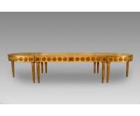 Mesa Brasão Dourada com Folha de Ouro 4,00 x 1,22