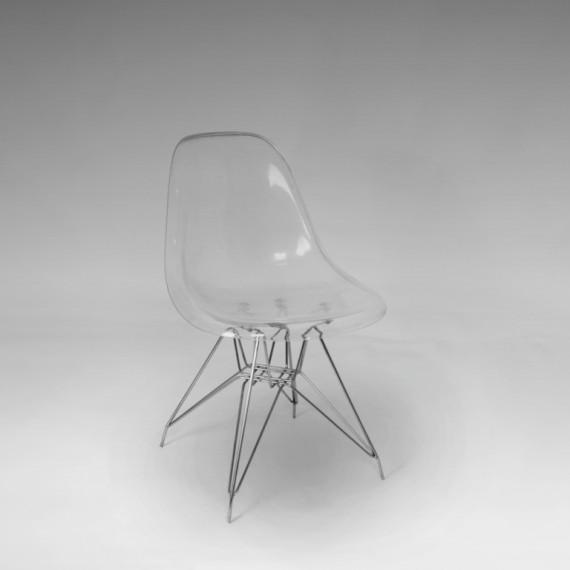 Cadeira Charles Eames Acrílico Cristal 0,47 x 0,44 x 0,80