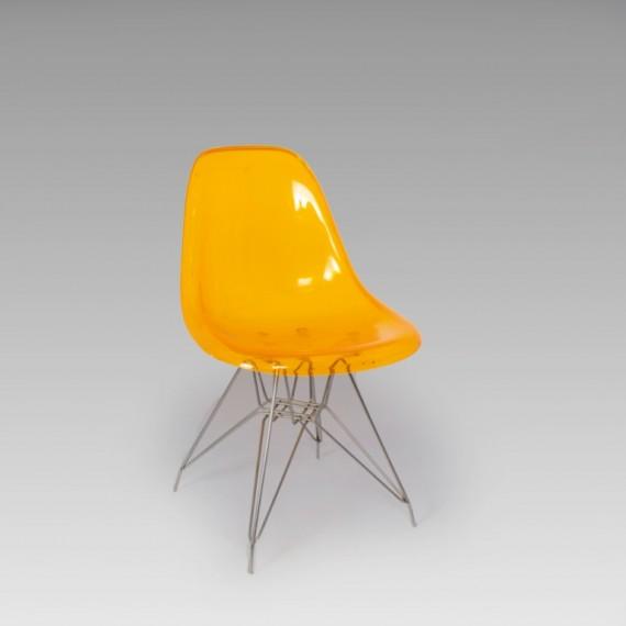 Cadeira Charles Eames Acrílico Laranja 0,47 x 0,44 x 0,80