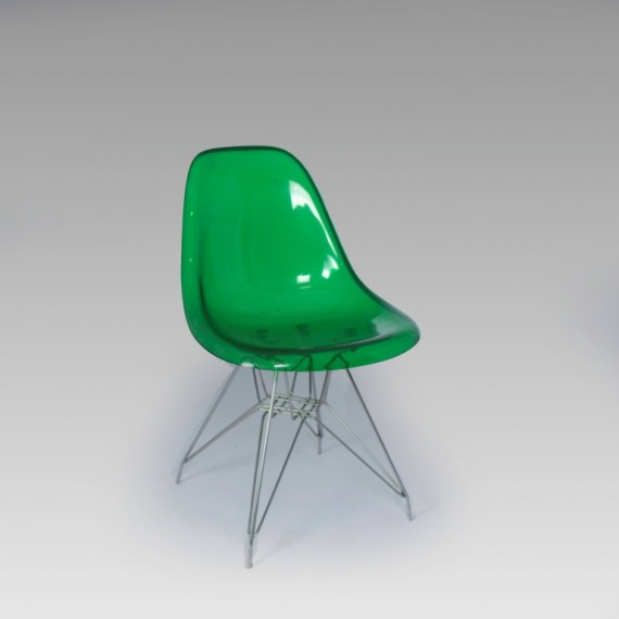 Cadeira Charles Eames Acrílico Verde 0,47 x 0,44 x 0,80