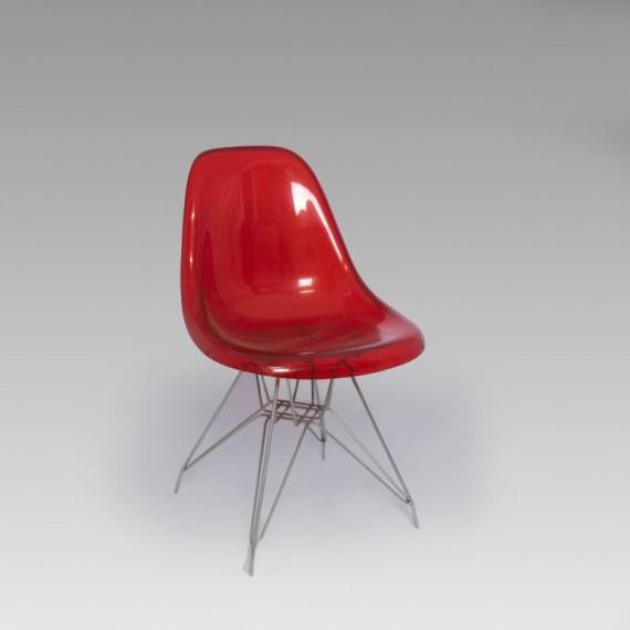 Cadeira Charles Eames Acrílico Vermelha 0,47 x 0,44 x 0,80