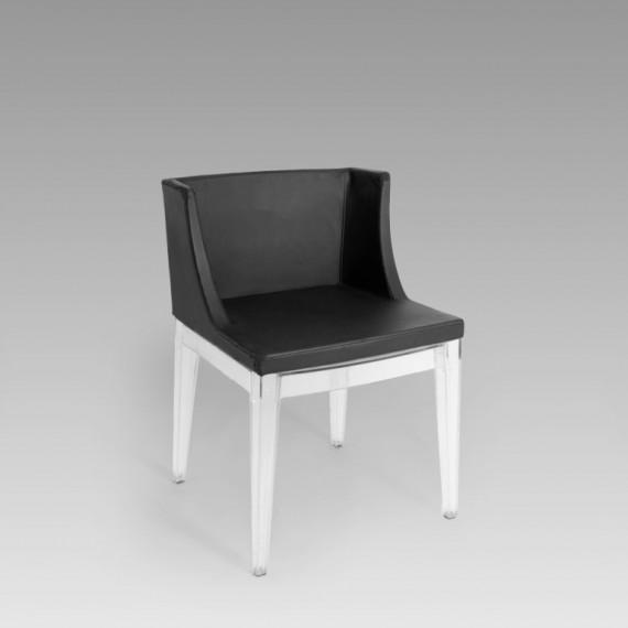 Cadeira Christie Acrílico Preta 0,47 x 0,44 x 0,80