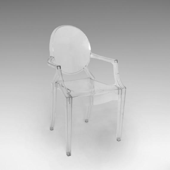 Cadeira Louis Ghost Acrílico Cristal 0,48 x 0,45 x 0,92