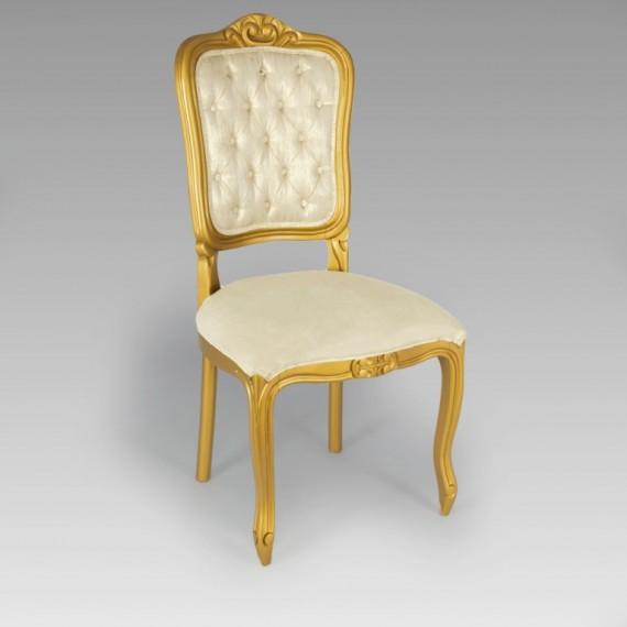 Cadeira Luís XV Dourada 0,50 x 0,50 x 1,07
