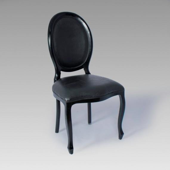 Cadeira Medalhão Preta 0,52 x 0,45 x 1,01