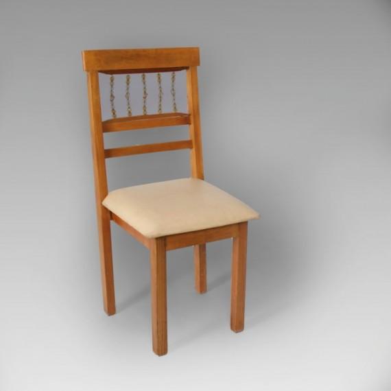 Cadeira Nápoli Madeira com Cristais 0,45 x 0,46 x 0,94