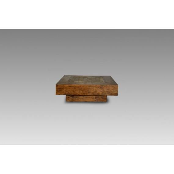 Mesa de Centro com Pedra 1,00 x 1,00 x 0,33