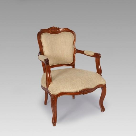Poltrona Luís XV Bege 0,61 x 0,60