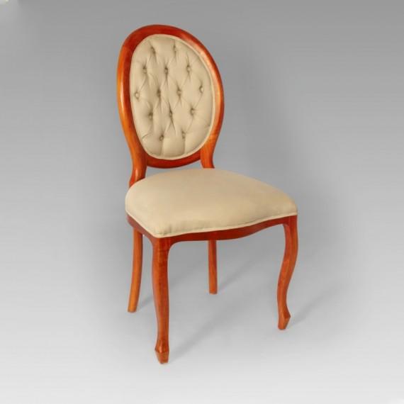 Cadeira Medalhão Captonada Palha I 0,56 x 0,49 x 1,04