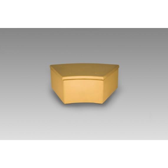 Puff Paris Dourado Meia Lua 1,20 x 0,80