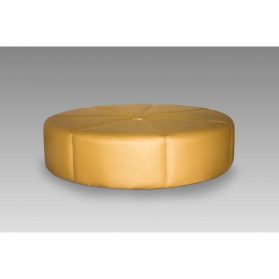 Puff Paris Dourado Redondo 1,60