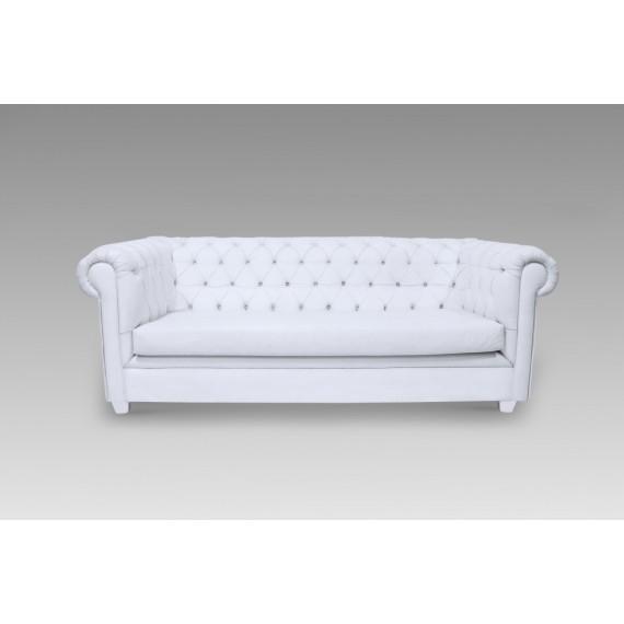Sofá Chesterfield Captonado Branco 2,10 x 0,95