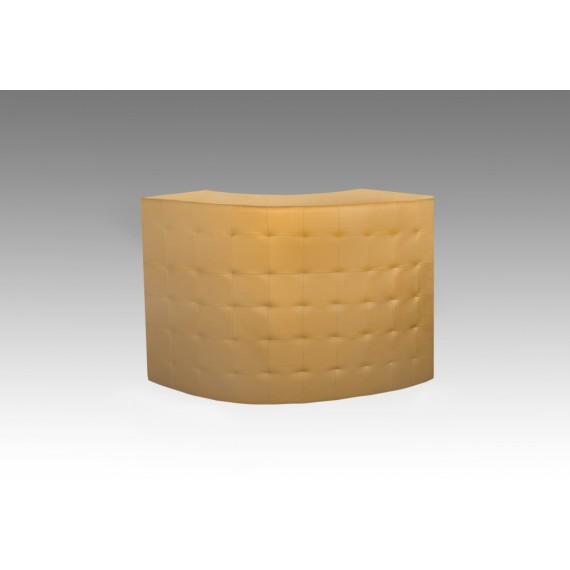 Bar Curvo Captonado Dourado 1,77 x 0,93 x 1,23
