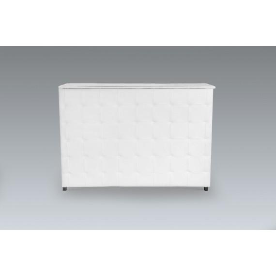 Bar Reto Captonado Branco com Armação Envelope 1,53 x 0,52 x 1,075